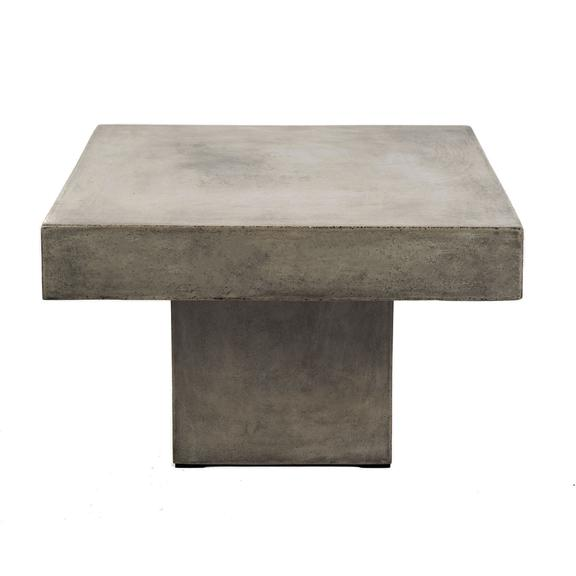 Square Concrete Coffee Table for indoor and outdoor - Hamptons Furniture, Gifts, Modern & Traditional