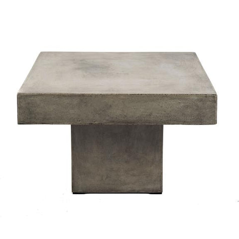 Square Concrete Coffee Table for indoor and outdoor