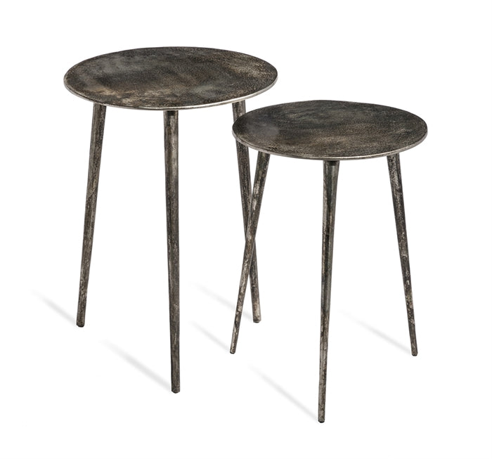 Nickel Side Tables