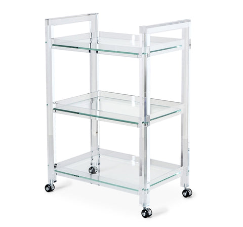 Acrylic and Glass Bar Cart