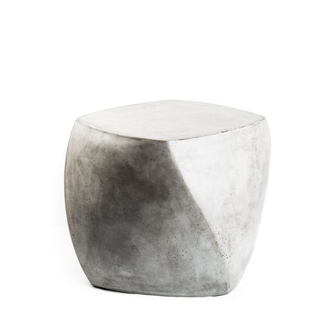 Cement Twist Side Table