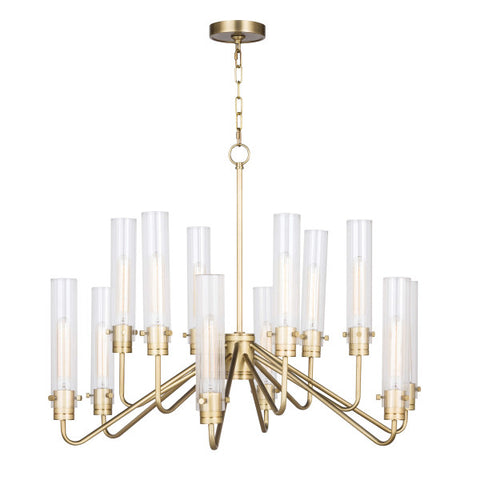 Multiple light Nickel Chandelier