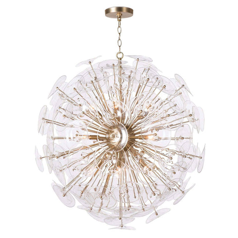 Stunning Pendant Light with multiple glass petals