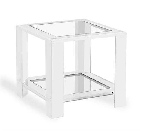 Modern Acrylic & Glass Side Table - Hamptons Furniture, Gifts, Modern & Traditional
