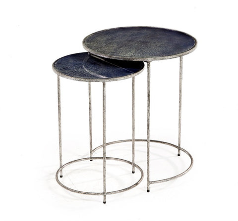 Round Cobalt Nesting Tables