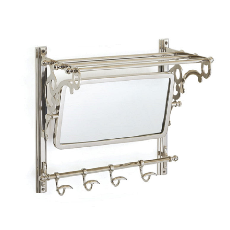 Towel Rack with Mirror