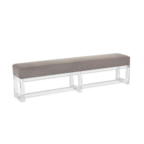 London Acrylic Bench with Velvet Seat