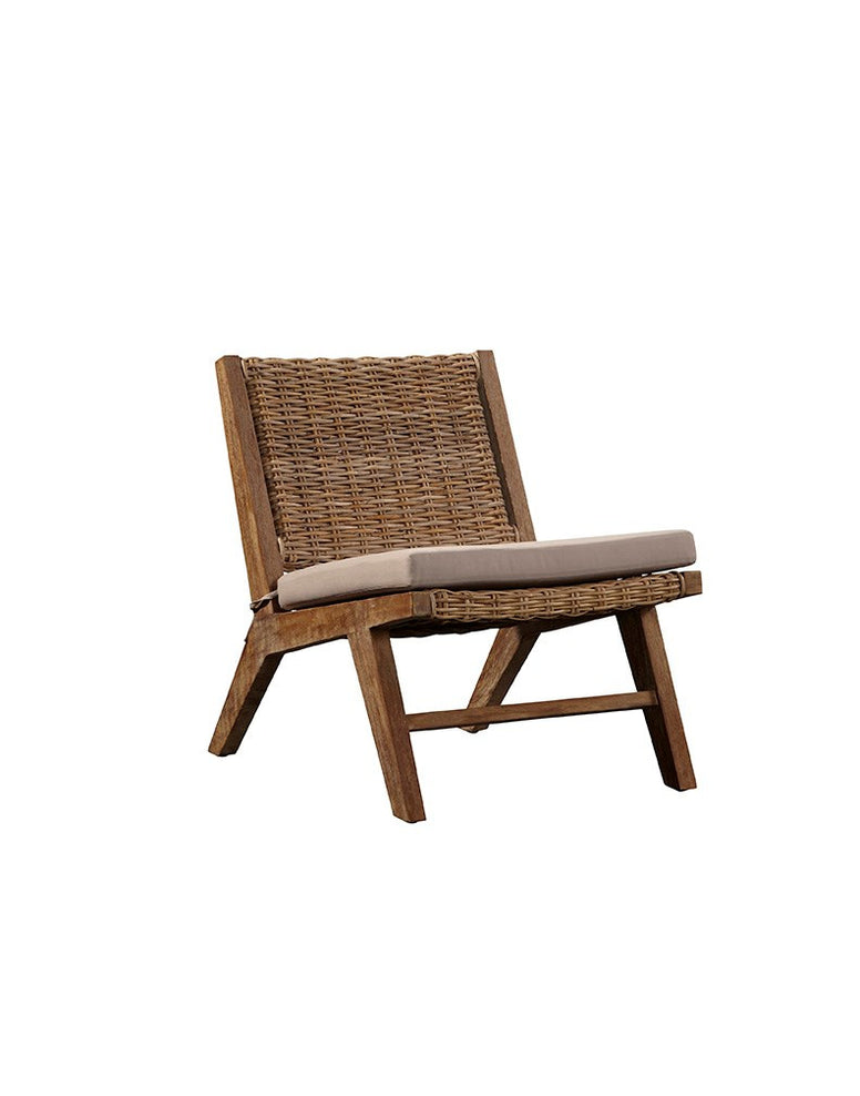 Mango wood and kubu weave chair