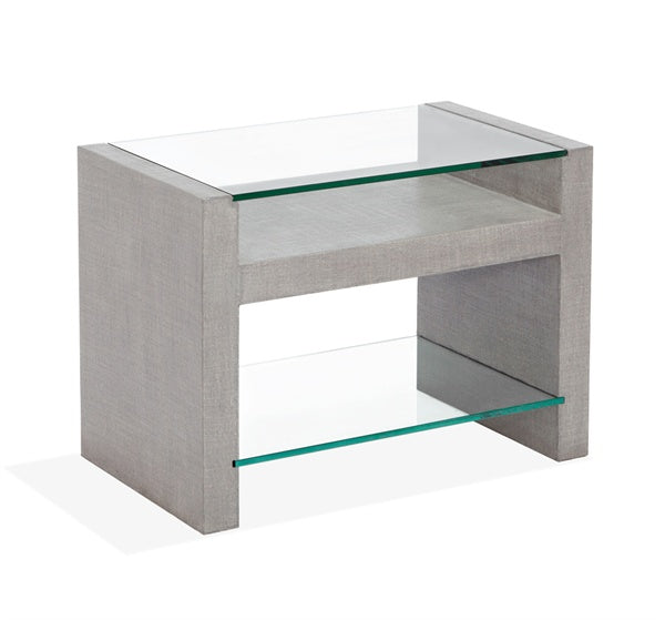 Amazing Linen Wrapped Bedside Table
