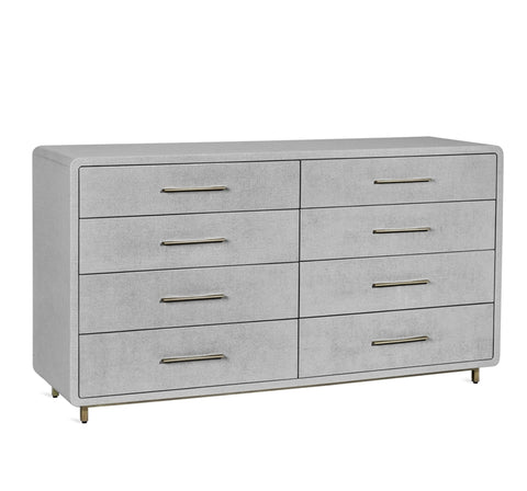 8 Drawer Dresser in Faux Linen