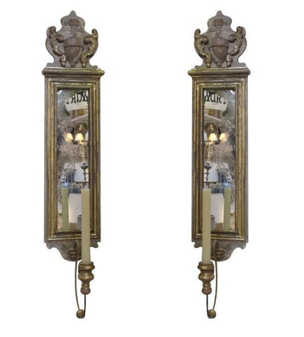 Pair of Italian 19th C. Wall Sconces - Hamptons Furniture, Gifts, Modern & Traditional