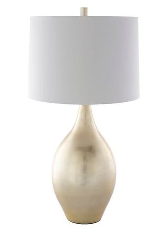 Table Lamp with Lacquered Bamboo Body
