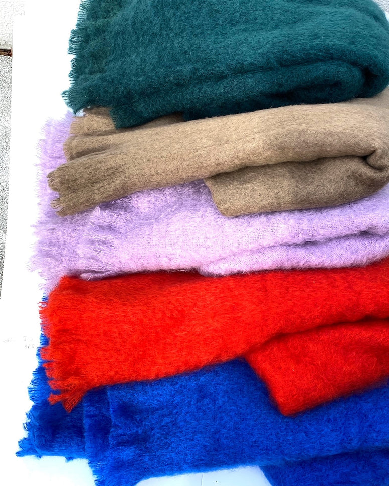 Mohair throws in Various colors