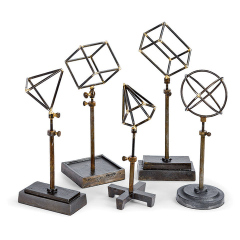 Geometric Sculptures on Stands