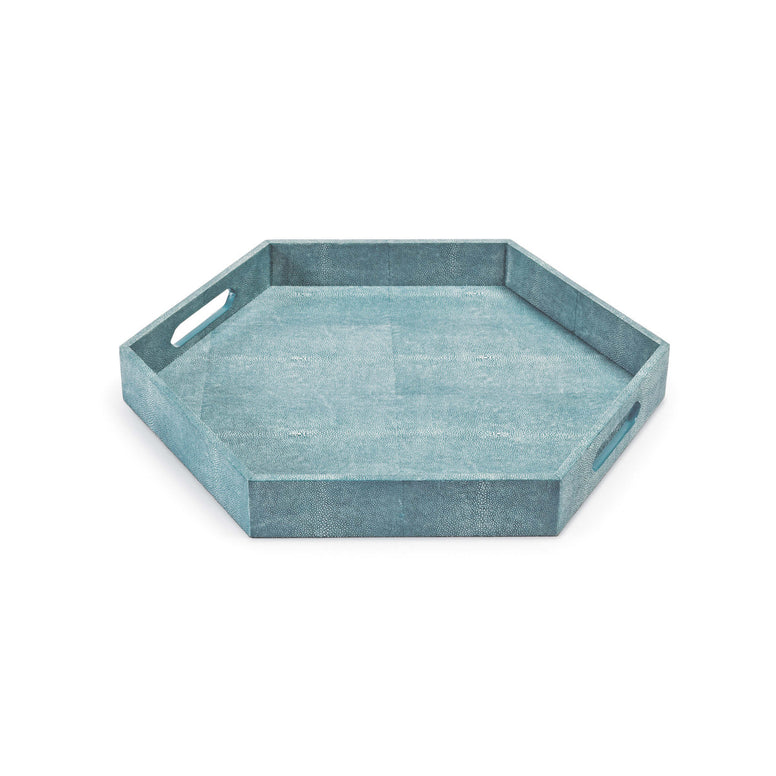 Faux Shagreen Tray - Hamptons Furniture, Gifts, Modern & Traditional