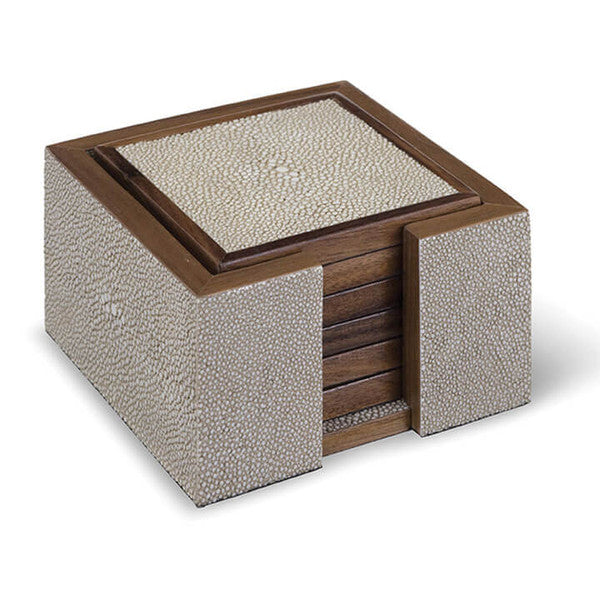 Faux Shagreen Coasters - Hamptons Furniture, Gifts, Modern & Traditional