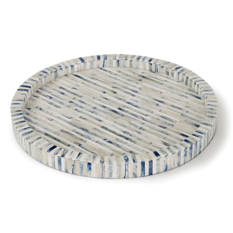 Indigo and Bone Tray - Hamptons Furniture, Gifts, Modern & Traditional