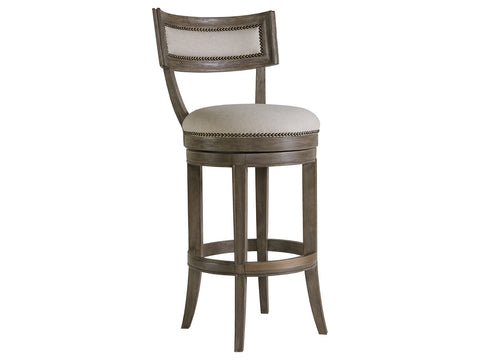 Swivel Curved Back Stools with Nail Detail