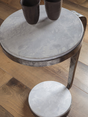 Round Drinks Table with Scagliola stone