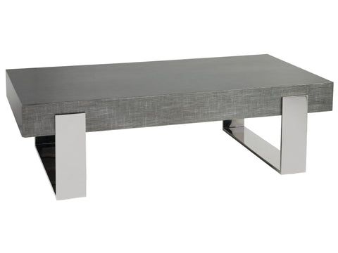 Slab Top Rectangular Cocktail Table