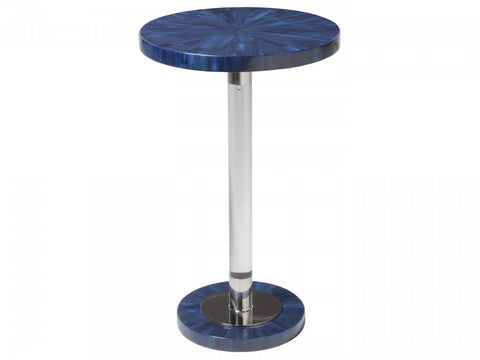 Navy Blue Round Spot Table