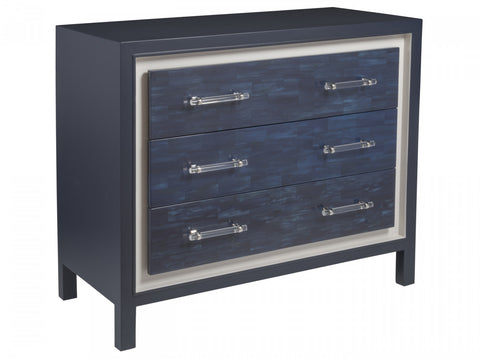 Navy Blue Hall Chest of Drawers