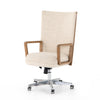 Tall back Desk Chair available in Leather or Linen