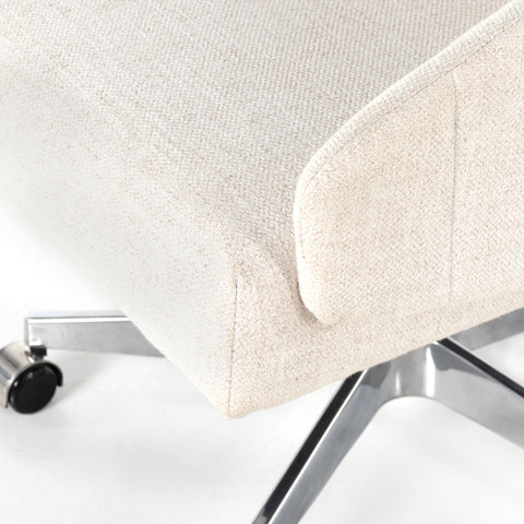 Off White Upholstered Desk Chair