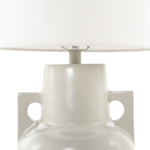 Powder Coated Aluminum Table Lamp with White Silk Shade