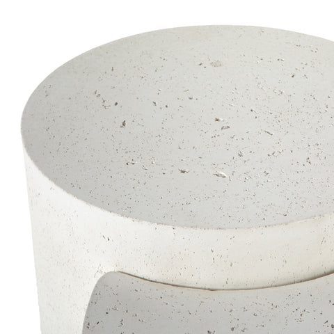 Two Tiered White Concrete Nesting Tables