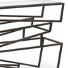 Modern Iron Zig Zag Console Table