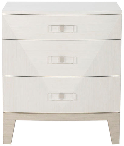 White and whitewashed frame Dresser with 7 drawers and Plexi Pulls