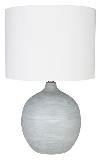 Table Lamp with Round Base - Hamptons Furniture, Gifts, Modern & Traditional