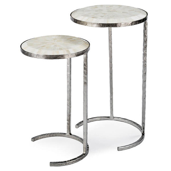 Round Bone Nesting Tables - Hamptons Furniture, Gifts, Modern & Traditional