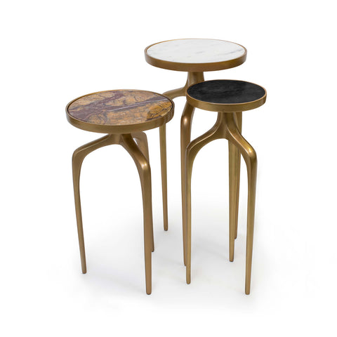 Nesting Table Set in Gold Finish