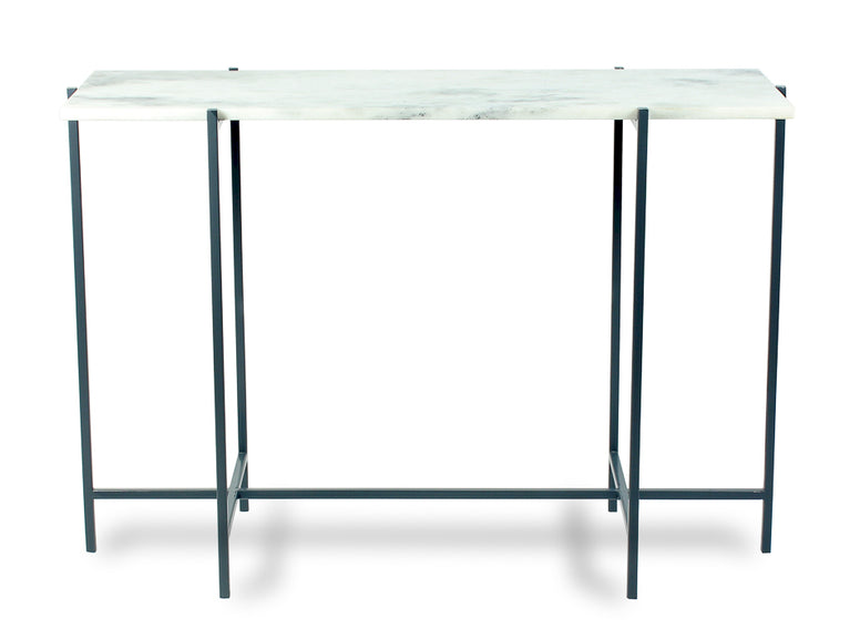 Iron and Marble Console Table - Hamptons Furniture, Gifts, Modern & Traditional
