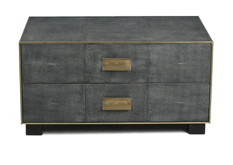 Low Leather Embossed Chest