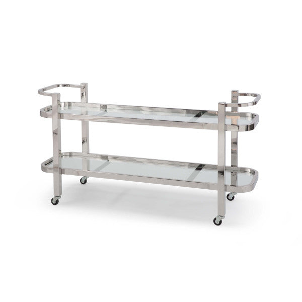 Large Metal Bar Cart