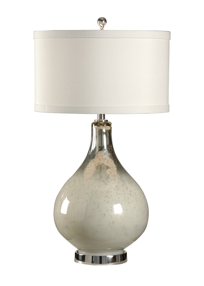 Mercury and white colored glass lamp