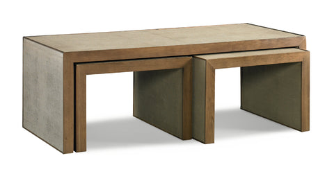 Faux Shagreen Nesting Tables - Hamptons Furniture, Gifts, Modern & Traditional