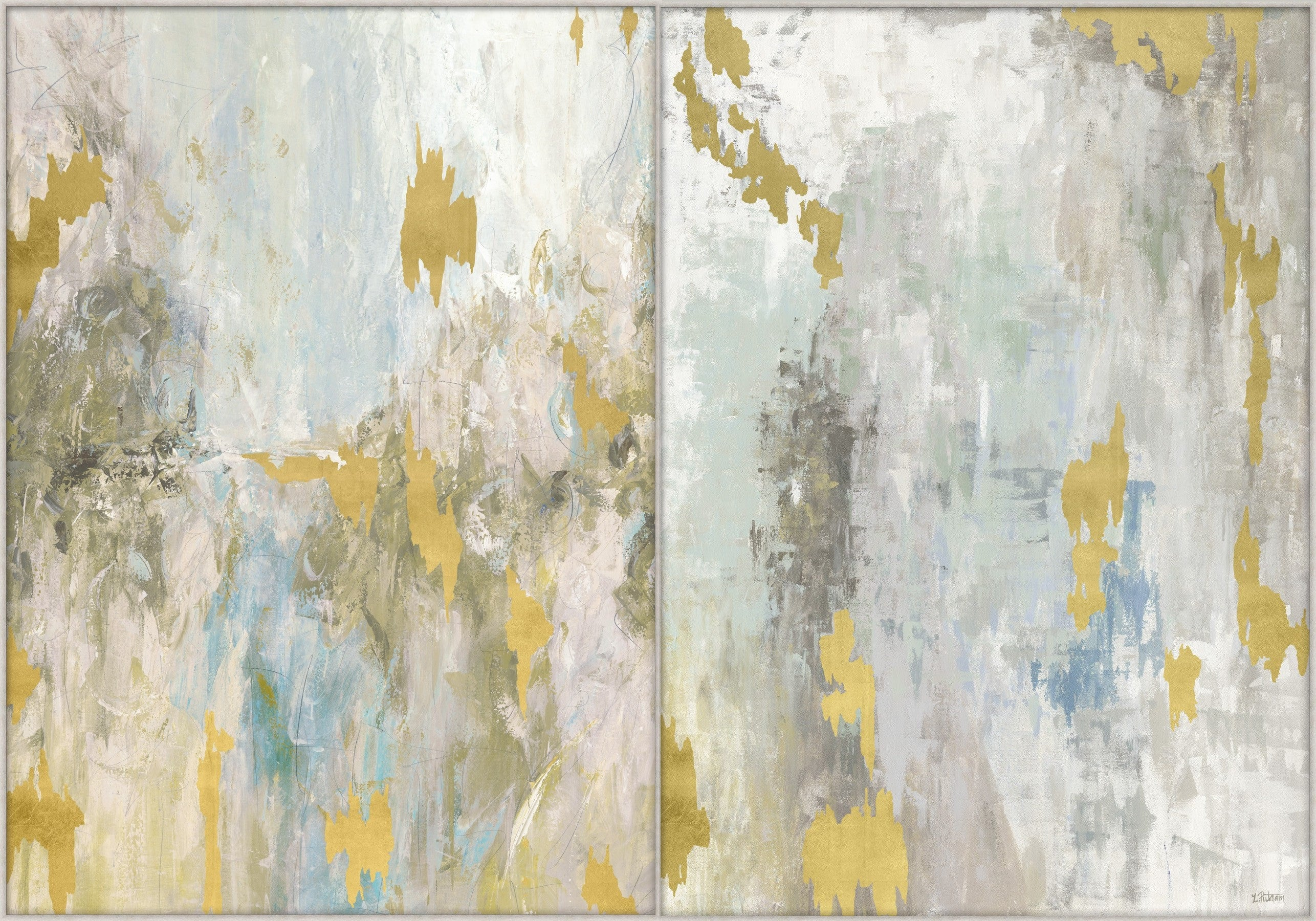 Gold Abstract Prints On Canvas English Country Home