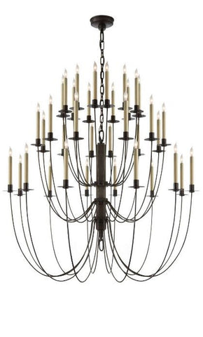 Large Three Tier Iron Chandelier