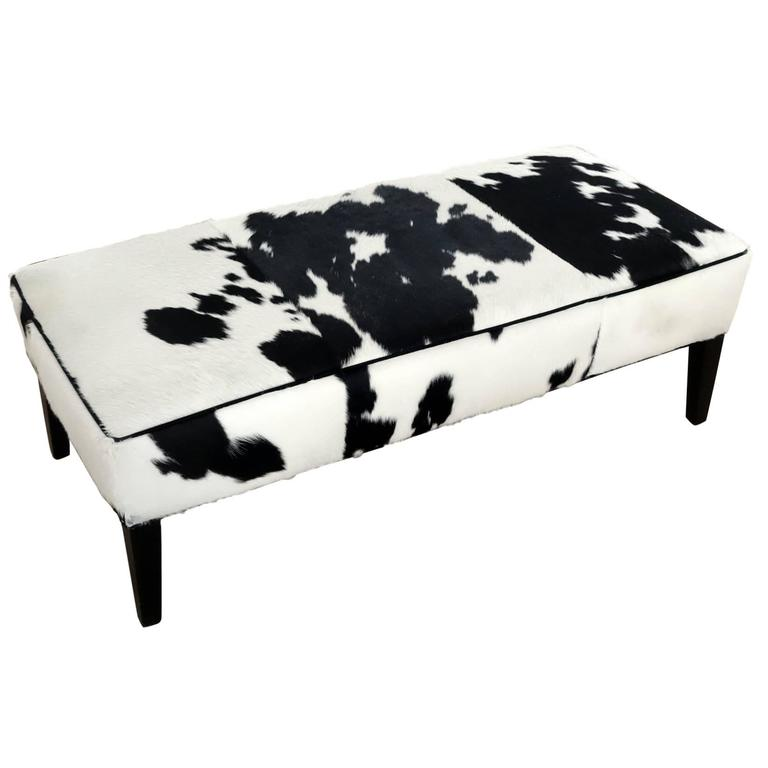 Cow Hide Bench - Hamptons Furniture, Gifts, Modern & Traditional