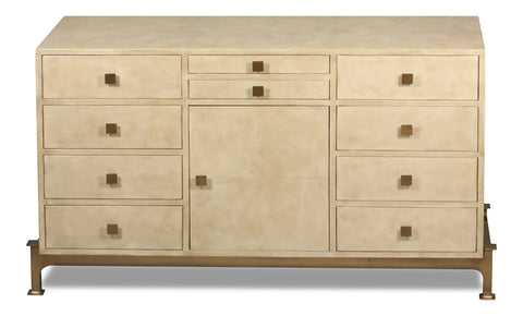 10 Drawer Leather Sideboard
