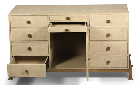Multiple Drawer Leather Sideboard - Hamptons Furniture, Gifts, Modern & Traditional