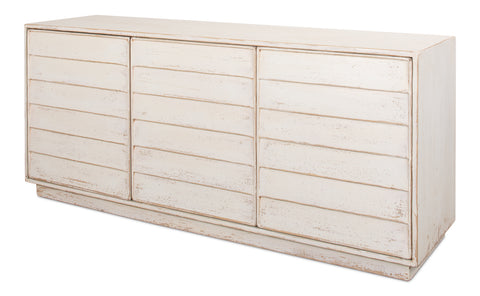 Distressed White Sideboard