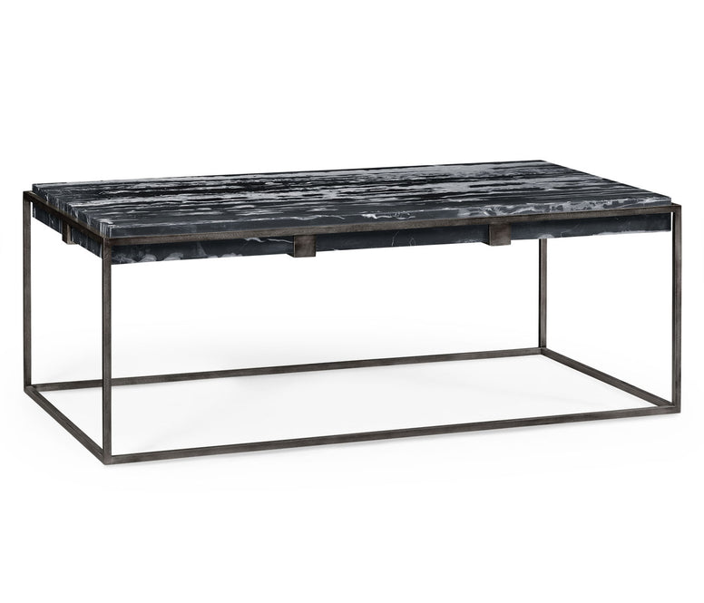 Marble & Iron Cocktail Table