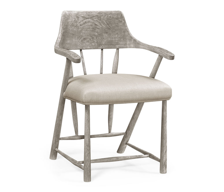 Grey Oak Armchair - Hamptons Furniture, Gifts, Modern & Traditional