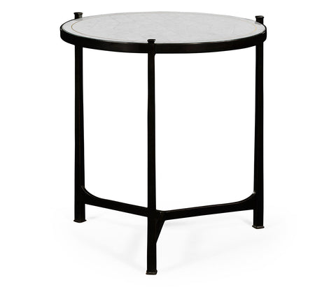 Side Table with Silver Eglomise Top