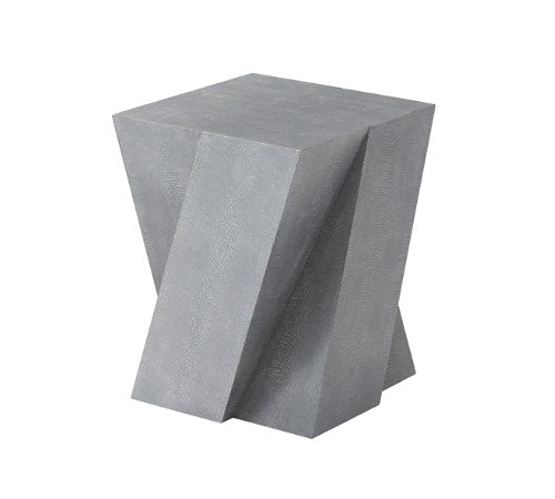 Faux Shagreen Leather Stool - Hamptons Furniture, Gifts, Modern & Traditional